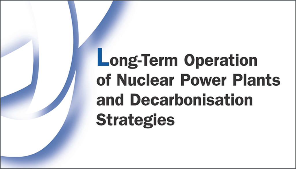 Report cover: Long-Term Operation of Nuclear Power Plants and Decarbonisation Strategies