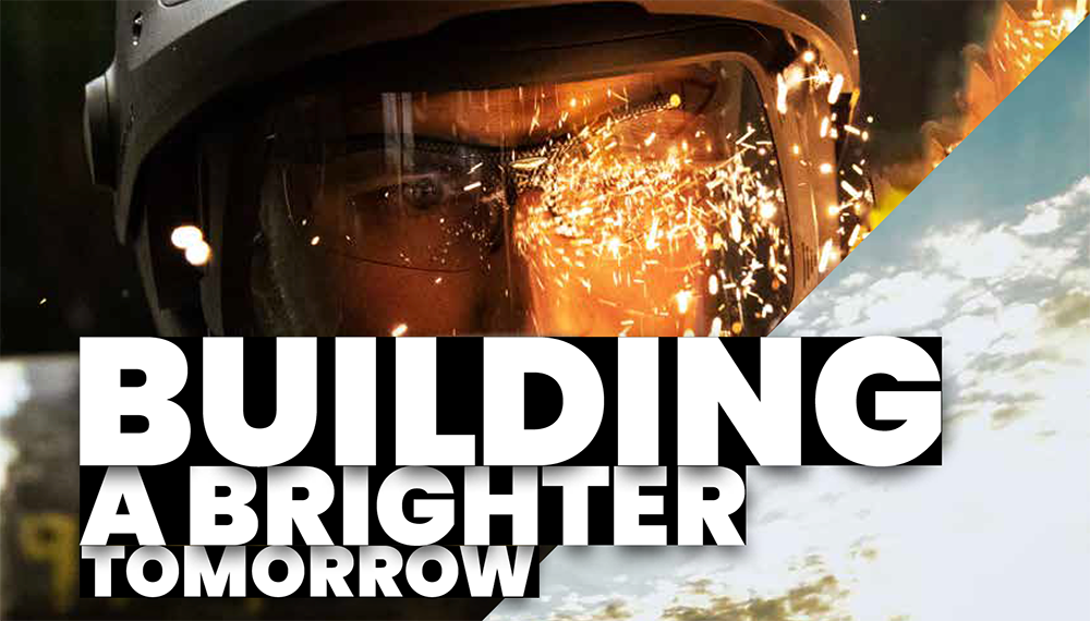 Report cover: Building a brighter tomorrow