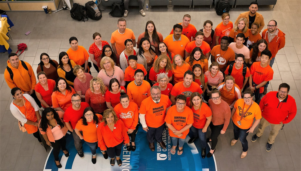 Group of Orange Shirt Day participants