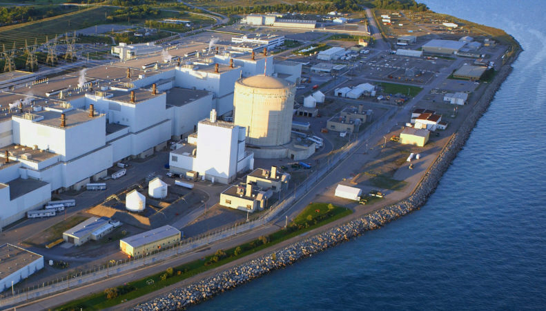 Aerial view of Darlington Nuclear