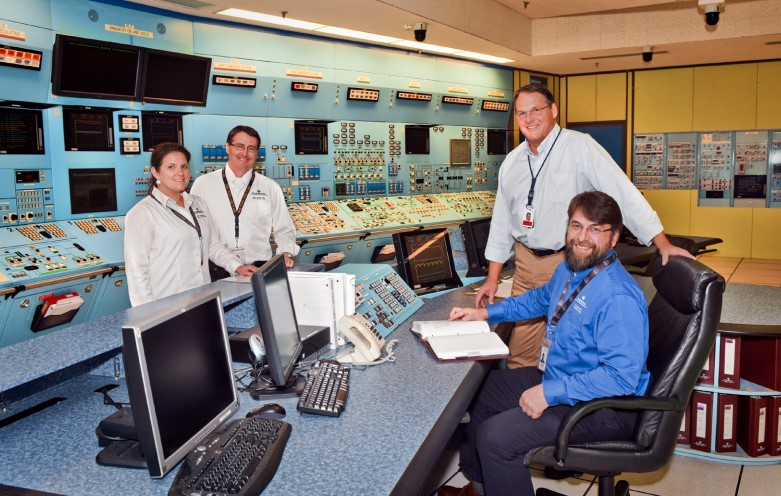 Control room with staff at Point Lepreau