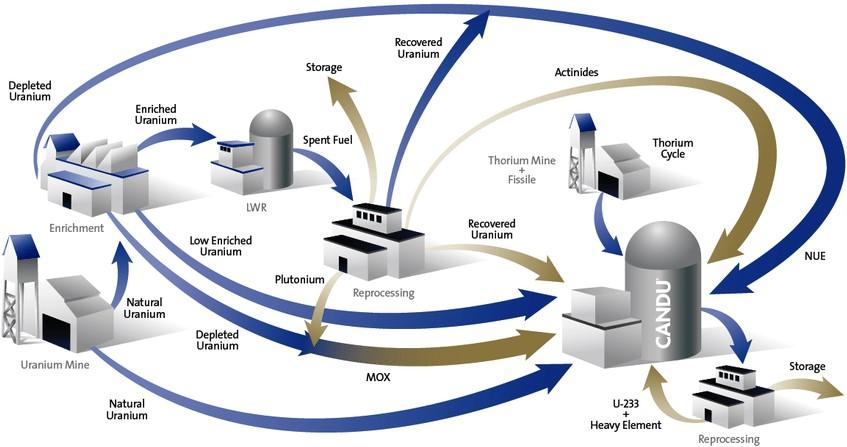 Diagram of fuel cycle