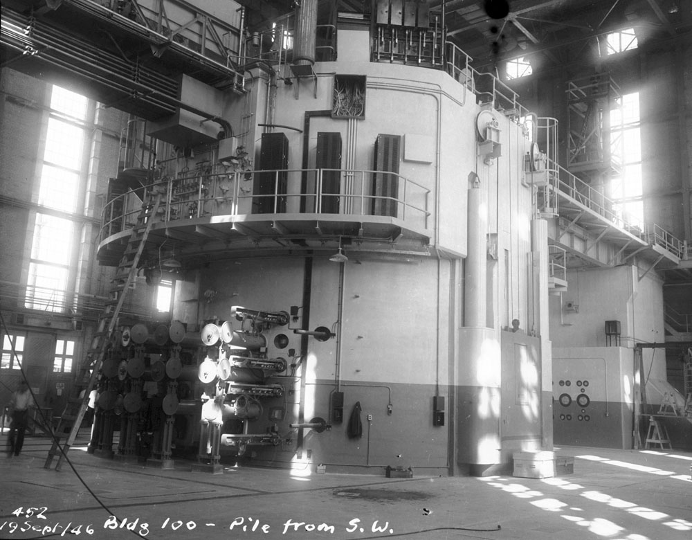 NRX (National Research Experimental) Reactor nearing completion (1946)