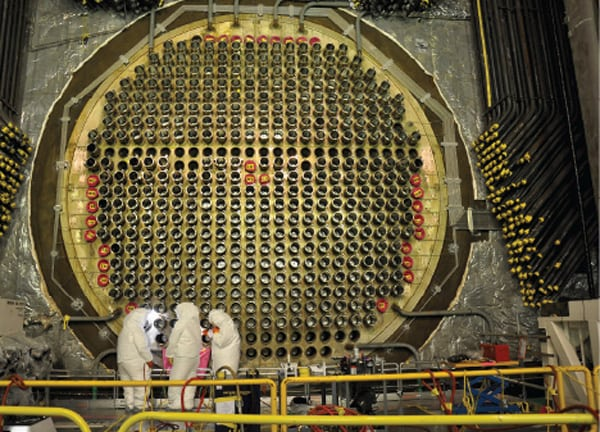 Reactor face at Bruce Power