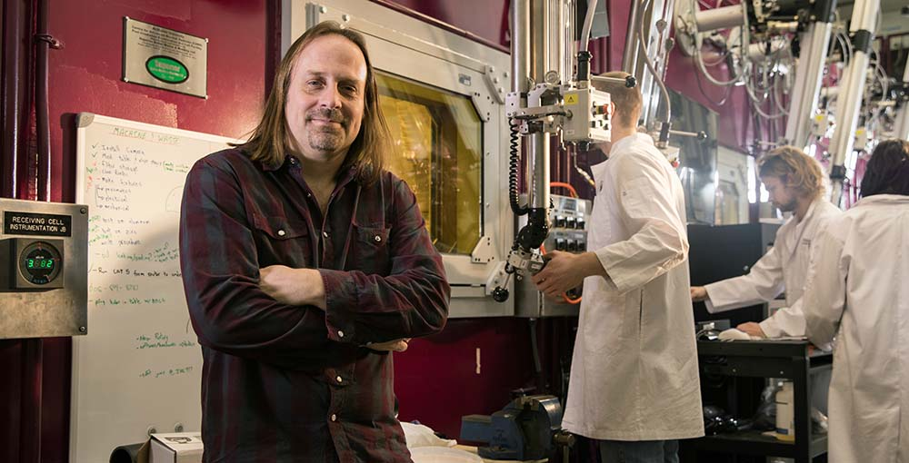 Dave Novog in a lab